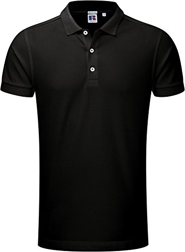 Russell Europe: Men`s Stretch Polo R-566M-0, Größe:L;Farbe:Black
