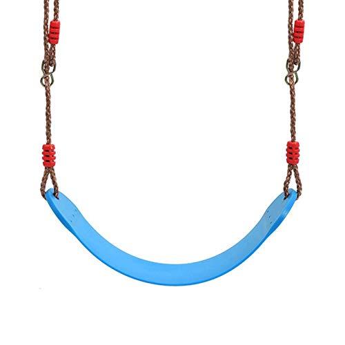 Columpio Juego para NIÑOS STILLO Superior DE Abajo Interior Interior Ajustable Silla Ajustable, FÁCIL DE Llegar E Instalar, Cargo 330IB (Color : Blue)