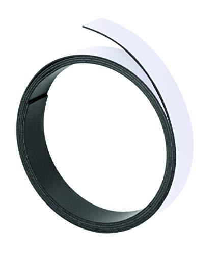Franken M802 09 Magnetband, 100 cm x 10 mm, Stärke: 1 mm, weiß
