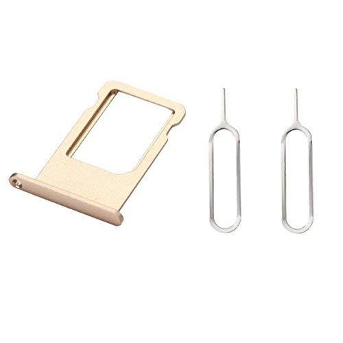 Mobofix - Placa de repuesto para tarjeta SIM, ranura para tarjetas Nano SIM para iPhone 6S (Gold), ranura para tarjeta SIM SIM y soporte con 2 llaves removibles