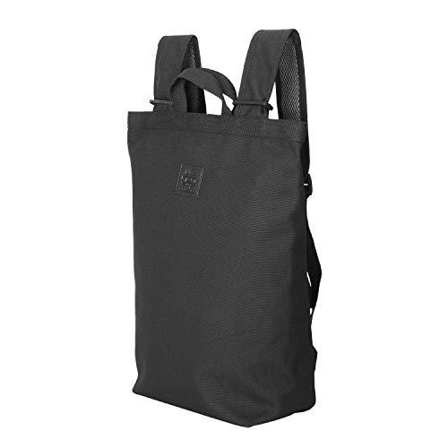 リュック レディース バックパック キャンバストートバッグ 人気 カジュアルリュック 防水 リュック アウトドア (ブラック, L)