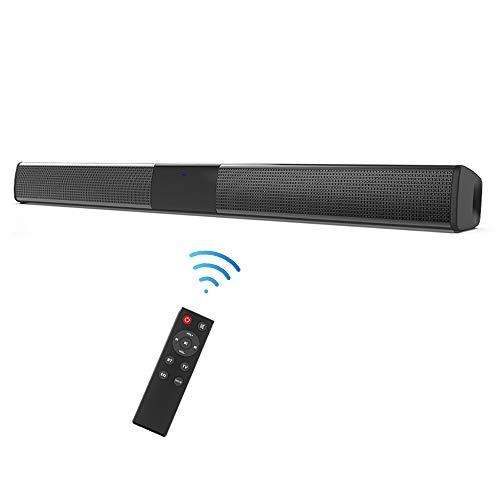 Docooler Barra de Sonido para TV, Inalámbrico TWS reproducción de Canal Izquierdo y Derecho BT 5.0 Altavoz SoundBar TV de Cine en casa 3D de Bass televisor,Subwoofer con convertidor Digital