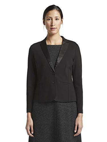 TOM TAILOR Damen Blazer & Sakko Eleganter Blazer Deep Black,L,14482,2999