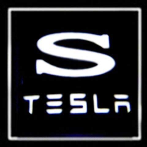 Luz de Bienvenida a la Puerta 1 UNIDS LED Puerta de Coche Light Light Logo para Tesla Modelo 3 x Y S Proyector Lámpara láser Ghost Shadow Puerta Accesorio de luz Luz de Bienvenida