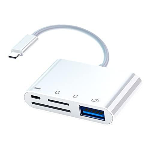 Baoblaze Conector Adaptador de Lector de Tarjetas de Memoria 4 en 1 USB C Micro SD TF, para Dispositivos USB C Adaptador de Lector de Tarjetas de cámara USB