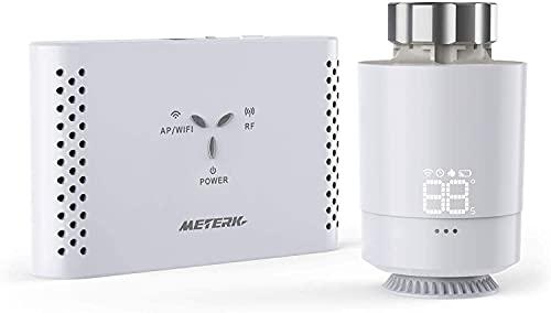 Thermostat Intelligent Meterk Kit de Passerelle et Thermostatique Contrôle intelligent du chauffage, Thermorégulateur Programmable à Commande Vocale. (Passerelle Modèle : SASWG-04-WIFI(TY))
