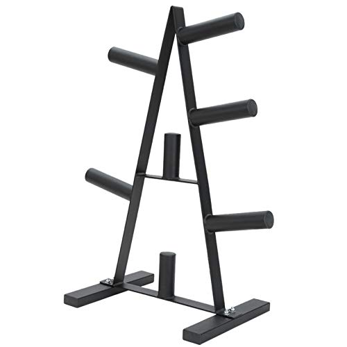 Belone Olympic Weight Plate Rack with 500LBS Load Capacity, 2-Inch Black Weight Holder Treefor Home Gym, Weights Storage Rack for Dumbbells, Kettlebells, Weight Plates