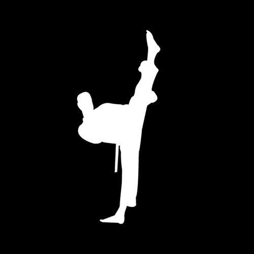 Empty 5 Stück Autoaufkleber Aufkleber 6 * 14CM chinesische Kung Fu Karate Zeichen Autoaufkleber Aufkleber Fensterdekoration Autoaufkleber und Abziehbilder