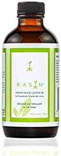 Organic Castor oil, Haitian Black Castor Oil By Rasin. 100% Pure, Unrefined Castor oil - Moisturizing, For Dry Skin, Hair care, Hair Growth,Castor Oil(Aceite De Ricino, Lwil Maskriti.)