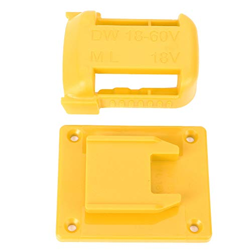 Power Tool Machine Stand, 2pcs Black Fixing Devices Electric Drill Accessory, for Electric Drill Power Tool 18‑60V 18V(Yellow)
