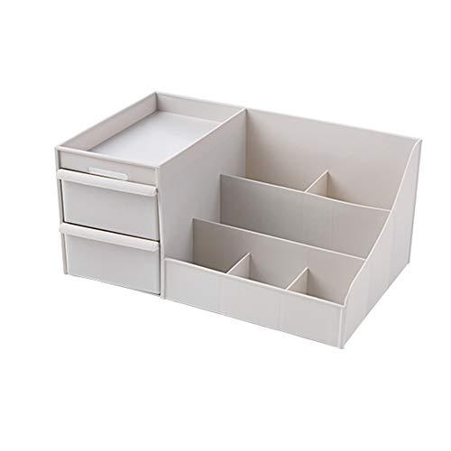 Cosmetic storage box Boîte de Finition de Commande à Distance de Bureau de cosmétique de boîte de Finition, Support de Masque de Rouge à lèvres de Brosse de Maquillage de Grille(B3;)