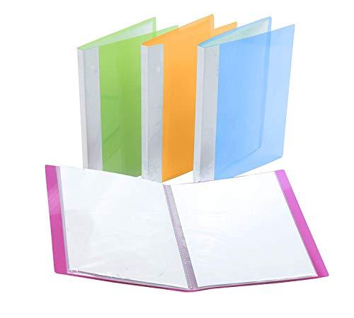 Portalistini,Portalistino 4 pezzo A4 30 Tasche Multicolore Lati Visualizza portafoglio Libro Presentazione Cartella con Copertura Flessibile