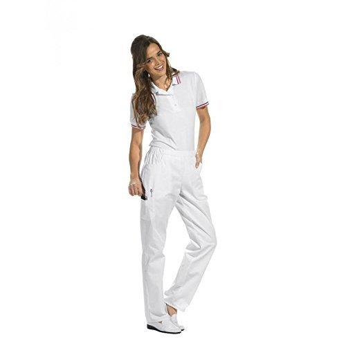 Leiber - Pantaloni sportivi da uomo e donna bianco L