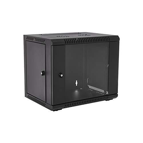 V7 RMWC9UG450-1N Rack Mount Wall Cabinet Enclosure 9U Glass