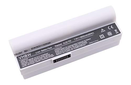 vhbw Batterie LI-ION 8800mAh 7.4V Blanc Compatible pour ASUS EEE PC 900a / 900HA / 900HD remplace AL22-703