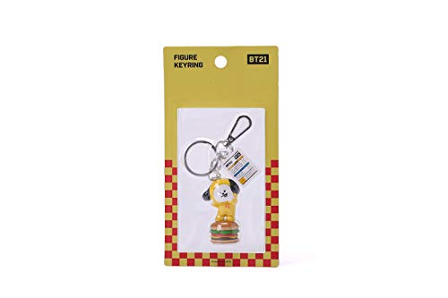 BT21 Bite Series Character Cute Mini Figure Keychain Key Ring Bag Charm with Clip