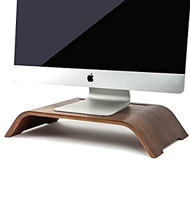 "MAYA MARIE Extra Large 20"" x 11"" Monitor Stand Computer Desk Riser + Phone/Tablet Holder - Desktop Raiser for PC, Laptop, iMac Screens, Office Monitors, Workstations, School, Multimedia, Work Meetings"