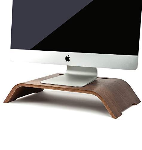 "MAYA MARIE Extra Large 20"" x 11"" Monitor Stand Computer Desk Riser + Phone/Tablet Holder - Desktop Raiser for PC, Laptop, iMac Screens, Office Monitors, Workstations, School, Multimedia, Work Meetings"