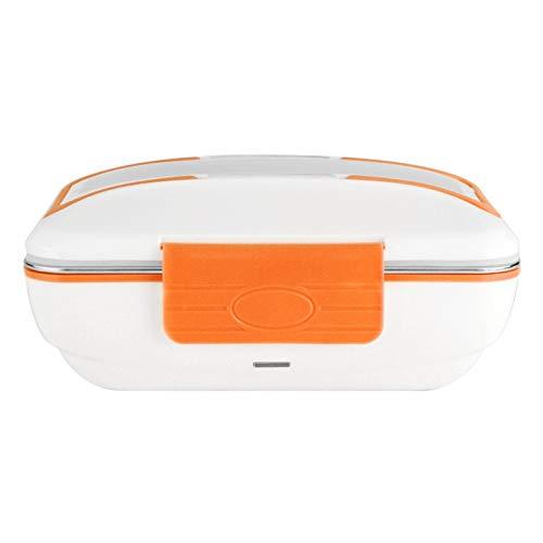Fiambrera eléctrica, 12V 40W Fiambrera eléctrica portátil con calefacción Fiambrera de acero inoxidable Recipiente de comida de acero inoxidable extraíble Calentador de comida portátil (naranja)
