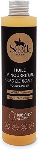 SOFOLK Aceite nutritivo e hidratante para cuero. Hidrata y restaura la flexibilidad de su cuero, incluido el cuero craquelado