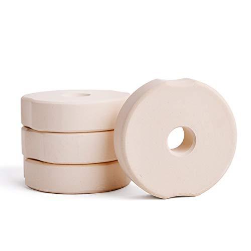SOFTCOREFOOD Beschwerungsstein 8 cm/ - 4 STÜCK - für Bügelglas/Sauerkraut herstellen/Kimchi und Gemüse Fermentieren im 4er Pack (Beige, Keramik)