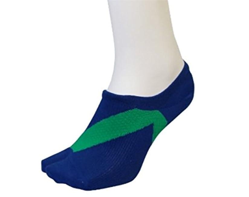 彼女自身ブロックする宣教師さとう式 フレクサーソックス スニーカータイプ 青緑 (M) 足袋型