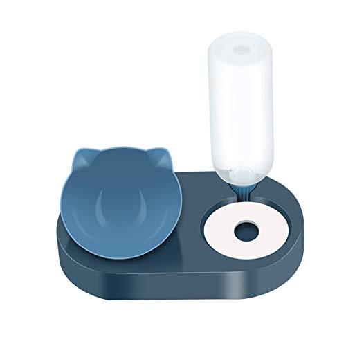 Pet Bowl, Heallege 2 in 1 Automatic Water Drinker Dispenser...
