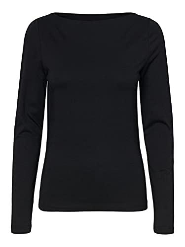 Vero Moda Vmpanda Modal L/S Top Noos Camiseta de Manga Larga, Negro, S para Mujer