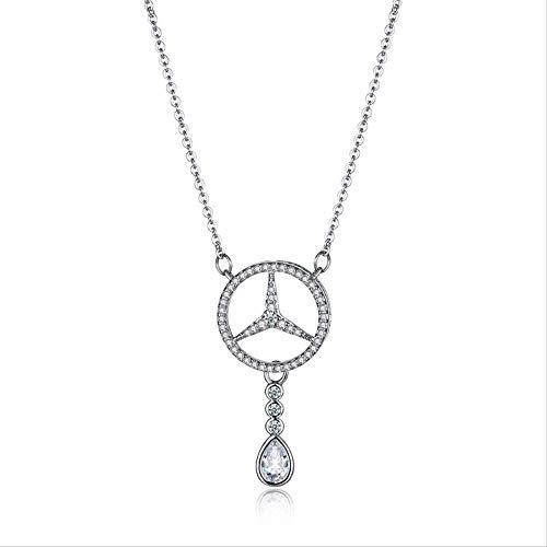 HSDQT S925 Mercedes Halskette Damen Mercedes Öl Spill Halskette (Liebe Öl-Spill) Ich Liebe SIE zuversichtlich Mode Halskette
