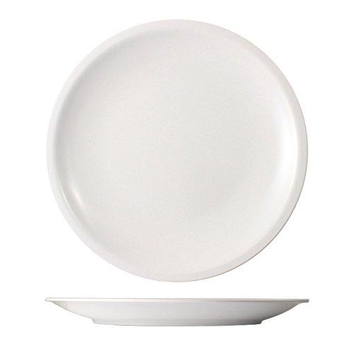 Cartaffini - Aire–6platos blancos ligeros de melamina - Diámetro: 22,7cm-