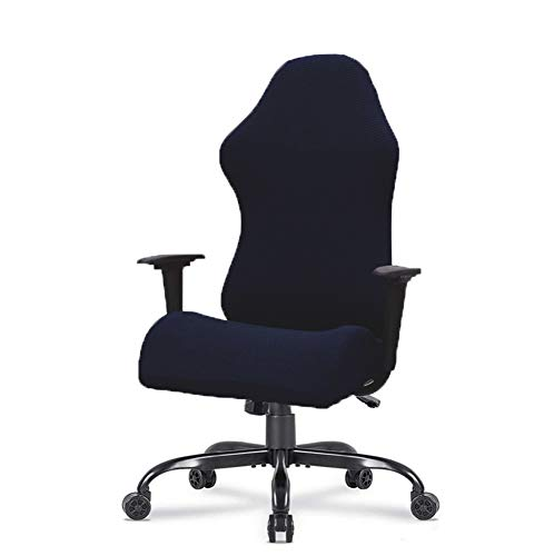 MOCAA Gaming Racing Chair Covers, Tall Office Executive Chair Covers,Executive Office Chair Slipcovers (Black)