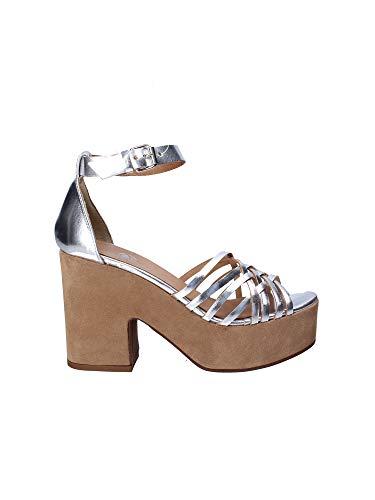 Janet Sport 41850 Sandalo Tacco Donna Grigio 39