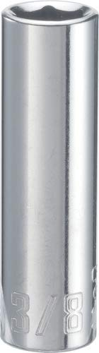 CRAFTSMAN Deep Socket, SAE, 1/4-Inch Drive, 3/8-Inch, 6-Point (CMMT43577) (0.375 Drive Deep Socket)