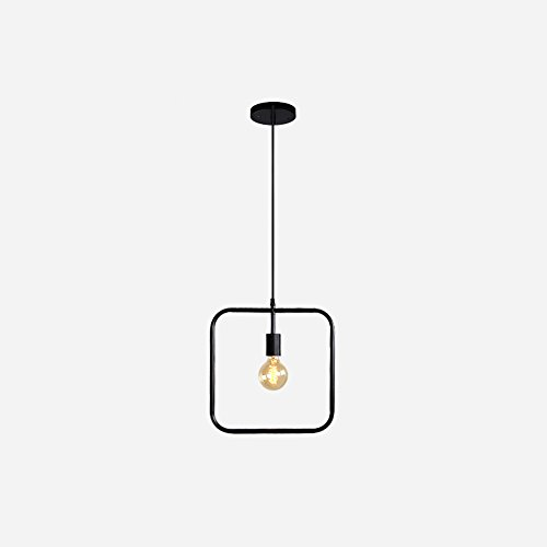 Mini Lustres En Fer, Nordic LED Noir Seule Tête Plafond Minimaliste Personnalité Salle À Manger Café Bar Lustre Rétro Creative Salon Étude Balcon Pendentif Lampe (Design : B)