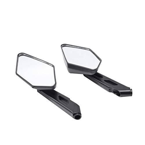 Piezas de reacondicionamiento de Motocicleta Espejo retrovisor de Metal Negro Espejo retrovisor de plástico Retro Espejo Auxiliar Universal Retro (Color : Negro)
