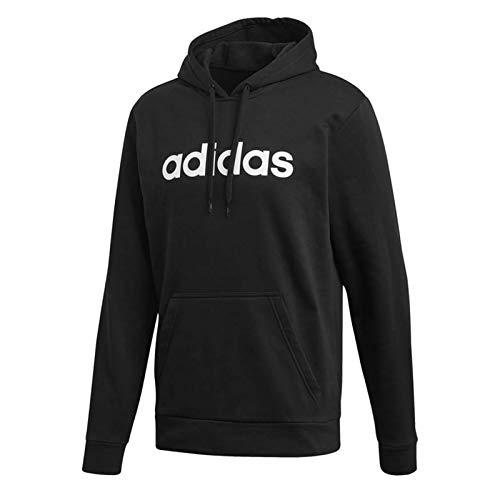 adidas LIN P/O FT Men#039s Pullover Hoodies SportswearLarge Black