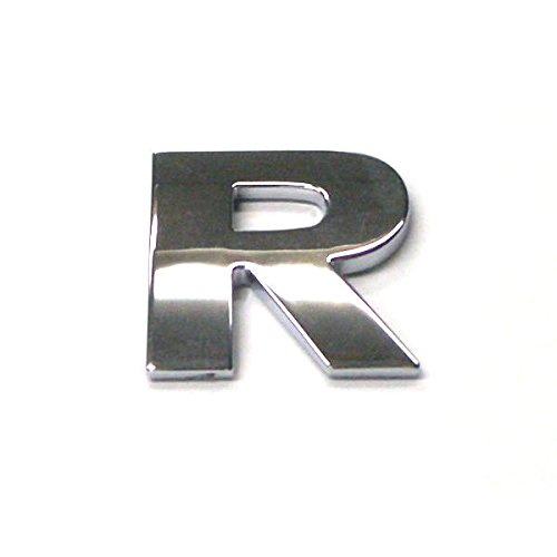 3D Chrome Self Adhesive Letters Digits Numbers Signs Emblem Badge Decal Stickers - Letter R