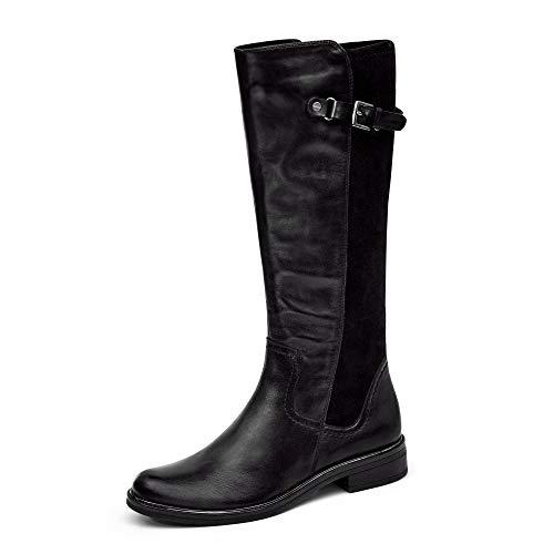 Caprice Damen 9-9-25504-25 022 Kniehohe Stiefel, Black Nappa, 39 EU