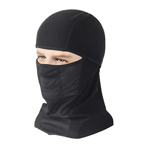 GUKOO Máscara de Invierno para Esquí y Snowboarding - Pasamontañas de Forro Polar - Máscara Balaclava Unisex Muy Resistente al Viento (Negro)