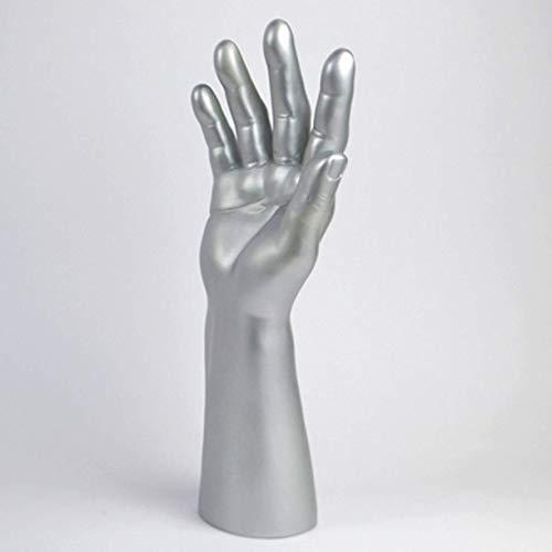 ZHONGJIUYUAN 1 pièce Mannequin pour homme Mannequin Main Présentoir Base Gants Homme Peinture Peau 35,6 cm