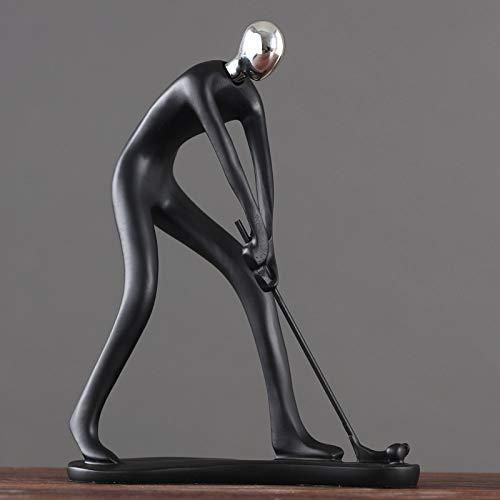 Statue Sculpture Figurine Caractère Golfeur Nordique Figurines En Résine Statue Minimaliste Des...