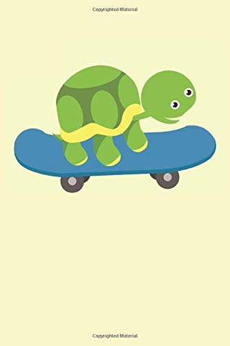Turtle Skateboard Kids: Skateboarder cartoon turtle gifts lined notebook (A5 format, 15.24 x 22.86 cm, 120 pages)