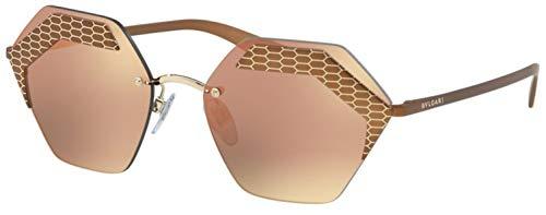 Bulgari 0Bv6103 20374Z 57 Gafas de sol, Dorado (Brze/Grey Rose), Mujer