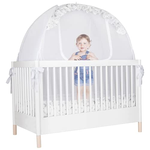 Pro Baby Safety - Baby Crib Safety Pop up Tent: Premium Baby Canopy Netting Cover - See Through...