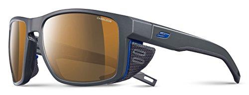 Julbo Shield Mountain Sunglasses - REACTIV Cameleon - Dark Gray/Black/Blue