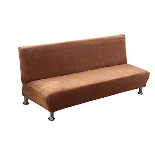 C/N Funda de sofá Cama sin Brazos Terciopelo Funda de sofá