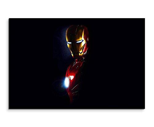 Iron Man Mask Wandbild 120x80cm XXL Bilder und Kunstdrucke auf Leinwand