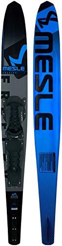 MESLE Monoski Freecarve 67\'\' mit B6 Bindung, Slalom Ski bis 95 kg, Tunnel Wasser-Ski für ambitionierte Slalom-Fahrer, mit Aluminium Finne, Länge 170 cm, blau