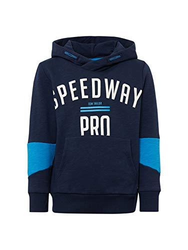 TOM TAILOR Kids Jungen Placed Print Sweatshirt, Blau (Dress Blue 3043), 104 (Herstellergröße: 104/110)