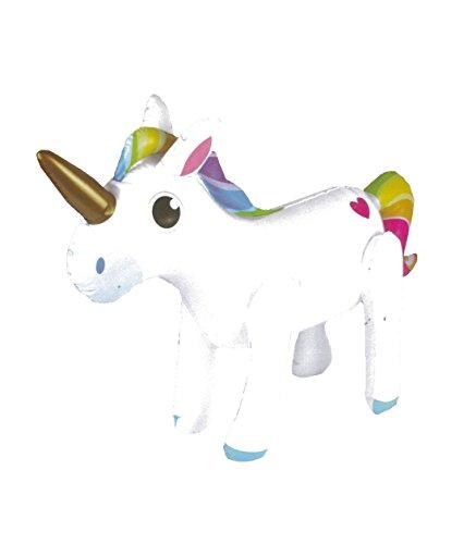 Islander Fashions Aufblasbare Einhorn 53X35 cm Party Blow Up Fantasie Dekoration Spielzeug One Size Pack von 1